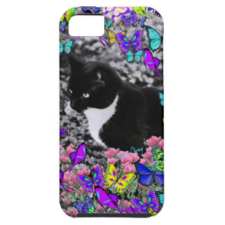 Freckles in Butterflies II - Tux Kitty Cat iPhone 5 Cover