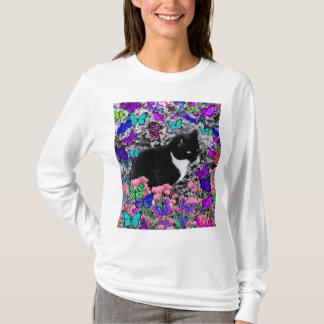 Freckles in Butterflies II - Tuxedo Cat T-Shirt