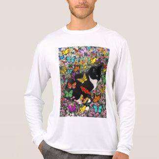 Freckles in Butterflies - Tux Kitty Cat Tshirt