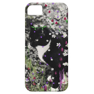 Freckles in Flowers I - Tuxedo Kitty Cat Barely There iPhone 5 Case