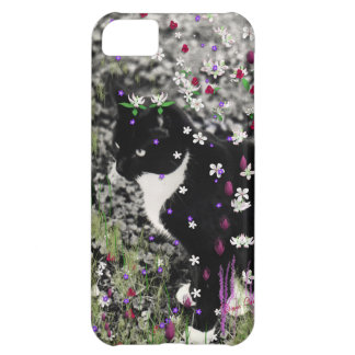 Freckles in Flowers I - Tuxedo Kitty Cat iPhone 5C Case