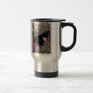 Freckles in Flowers II - Tux Kitty Cat Coffee Mug