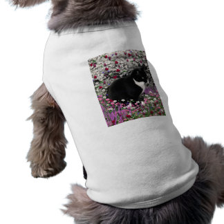 Freckles in Flowers II - Tux Kitty Cat Dog T Shirt