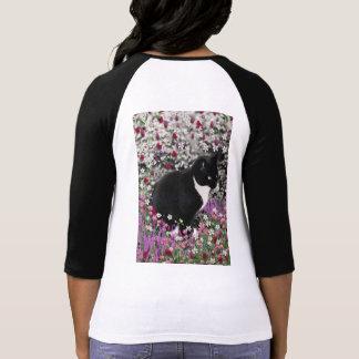 Freckles in Flowers II - Tux Kitty Cat Tshirt