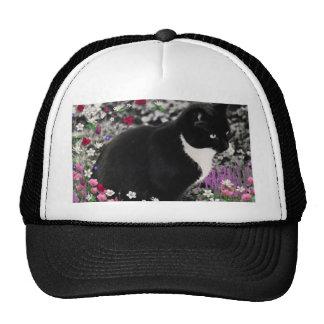 Freckles in Flowers II - Tuxedo Cat Hats