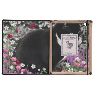 Freckles in Flowers II, Tuxedo Kitty Cat Covers For iPad