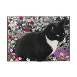Freckles in Flowers II - Tuxedo Kitty Cat Cases For iPad Mini