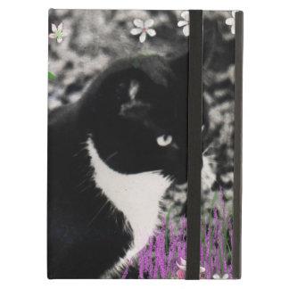 Freckles in Flowers II - Tuxedo Kitty Cat iPad Cases