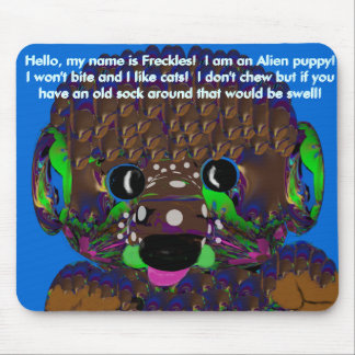 Freckles the Space Puppie Mousepad