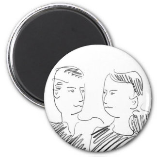 Fred and Sonja 6 Cm Round Magnet