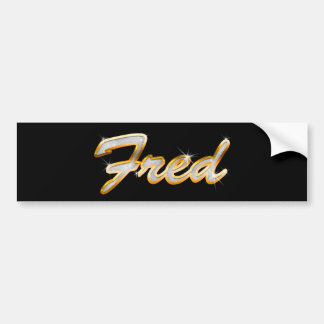 Fred Bling Bumper Stickers