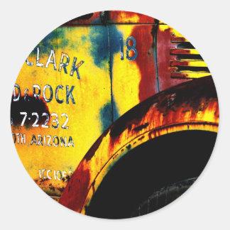 fred clark round sticker