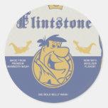 Fred Flintston Big Bold Belly Wash Round Sticker