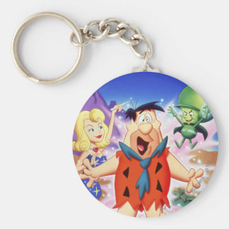 Fred Flintstone Under A Spell Basic Round Button Key Ring