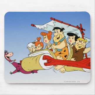 Fred Flintstone Wilma Barney and Betty PEBBLES™ Mouse Pad