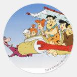 Fred Flintstone Wilma Barney and Betty PEBBLES™ Round Sticker