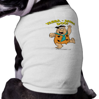 Fred Flintstone Yabba-Dabba Doo! Sleeveless Dog Shirt