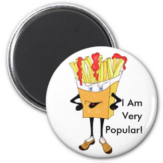 'Fred Fries' 2 1/4 Round Magnet