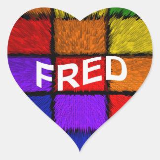 FRED HEART STICKER
