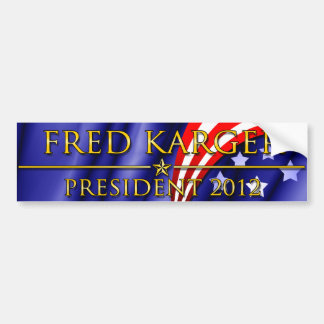 Fred Karger President 2012 Bumper Sticker