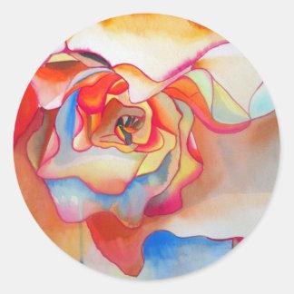 Fred martin begonia watercolour art classic round sticker