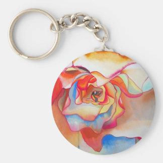 Fred martin begonia watercolour art key ring