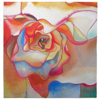 Fred martin begonia watercolour art napkin