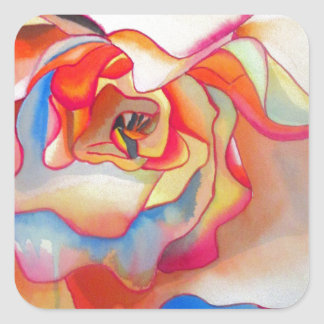 Fred martin begonia watercolour art square sticker
