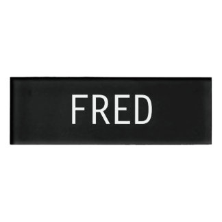 Fred Name Tag