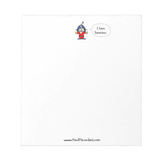 "Fred Pinsocket Spaceman - ""I Love Bananas"" Notepad"