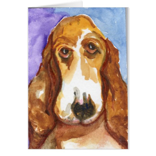 Fred Professional Basset Hound Card