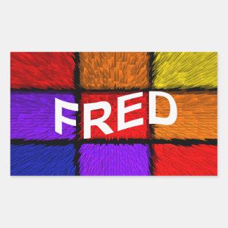 FRED RECTANGULAR STICKER