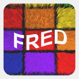 FRED SQUARE STICKER
