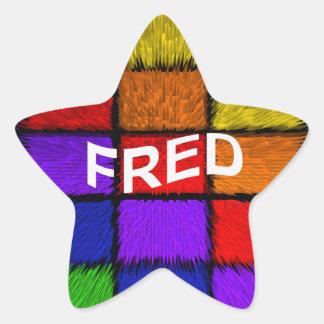 FRED STAR STICKER