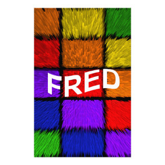 FRED STATIONERY