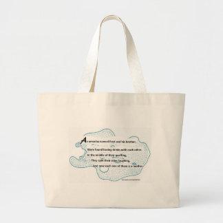 Fred The Amoeba - A SmartTeePants Science Poem Large Tote Bag