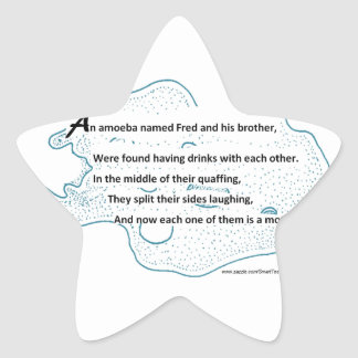 Fred The Amoeba - A SmartTeePants Science Poem Star Sticker