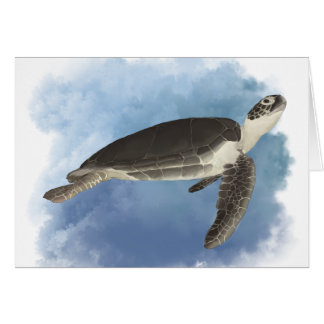 Fred the Friendly Sea Turtle Greeting Card