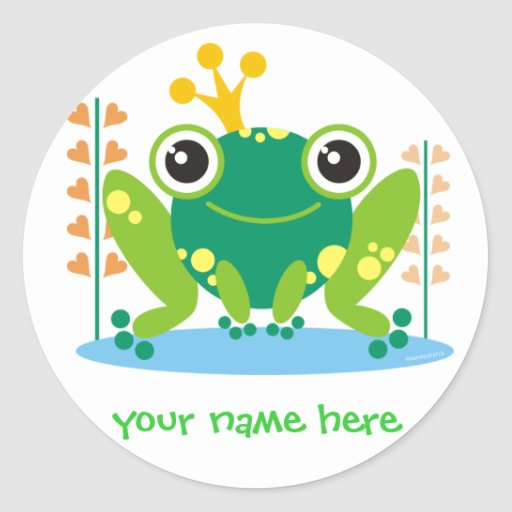 fred the froggy custom stickers