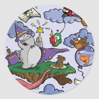 Fred the Wizard Classic Round Sticker