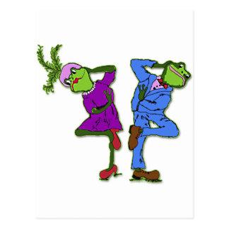 Freda and Freddie Bop Postcard