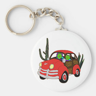 Freda and Freddie Frog Head Out Basic Round Button Key Ring