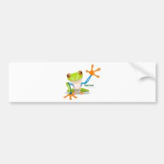 "Freddie Frog ""High Four"" Bumper Sticker"