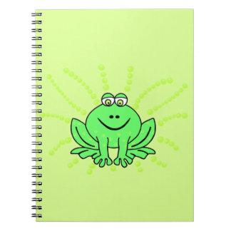 Freddie Frog Spiral Notebook