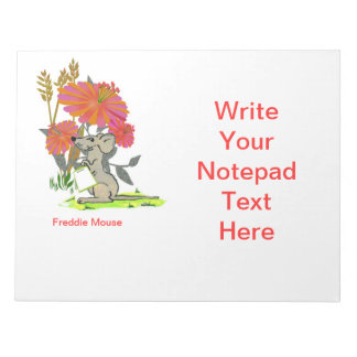 Freddie Mouse Notepad