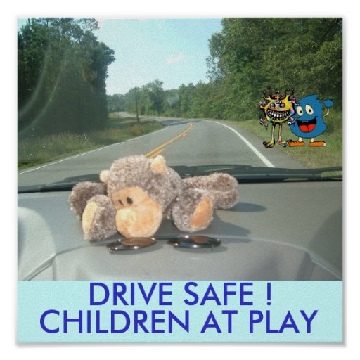 Freddy & Boober ! DRIVE SAFE POSTER