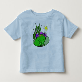 Freddy the Frog - on a Lilly Pad Cute Kid's Tee