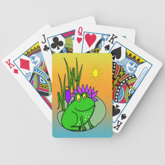 Freddy the Frog - on a Lilly Pad Playing Cards