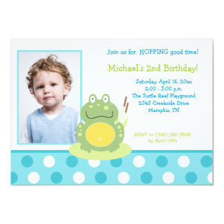 Freddy the Frog Photo Birthday Invitation