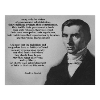 Frederic Bastiat Try Liberty Poster